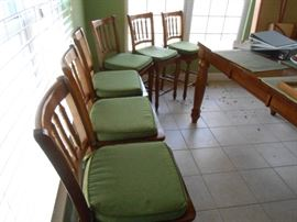 (6) Bar wood stools