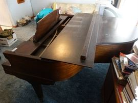 French & Sons Baby grand piano w/ bench