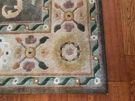 Detail on area rug