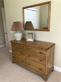 Dresser and mirror matches Appalachian Beech bedroom set