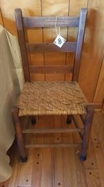 Antique ladder back chair.