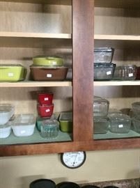 Pyrex and refrigerator dishes