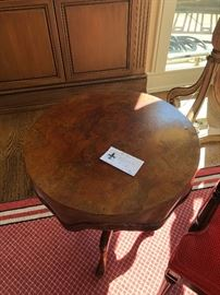 """Wonderful side table from Emerson & Cie 19.5""""  diameter by 24""""h.  originally $2400 asking $800 Stunning!"""