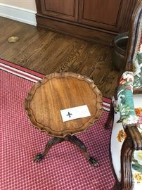 pie crust table perfect for a drink to rest on asking $210 measures 13.5 diameter by 21.5 high