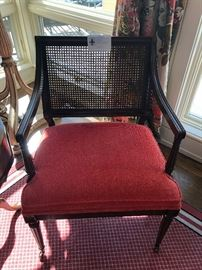 Caned back chair asking $110
