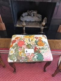 """Zimmer & Rohe upholstered antique bench/footstool  measures 21"""" x 15.5"""" x 18""""high asking $200 originally $600"""