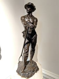 """Faneur"" Bronze by Charles Levy. French Salon des Beaux Arts. 22"" H"