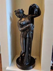 "Statue ""Venere Callipige Napoli"" incised on base. 36"" Tall. Base is 12"" Wide."