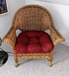 2 of 2 Wicker Chairs