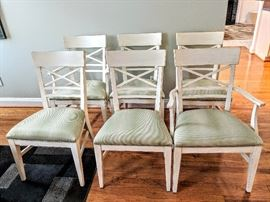 Ethan Allen Blake Chair Set - 2 Armchairs - 4 Side Chairs