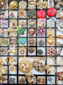 Costume Jewelry - lots of pins!