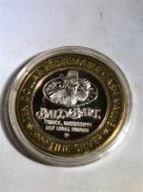 Bally Bart Golf Silver Coin