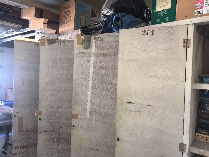 Large antique wooden lockers