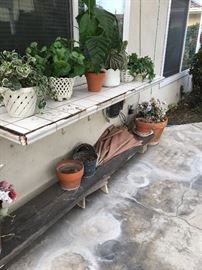 Large selection of garden pots