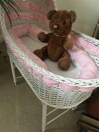 Antique baby bassinet