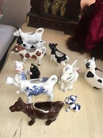Cow pitcher collection
