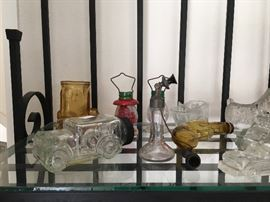 Antique candy bottle collection