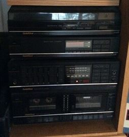 stereo equipment, not all is shown here