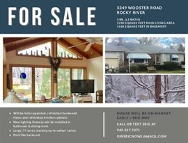 This Home is for sale! Sale information will be handed out at the sale.