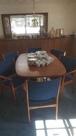 Gudme Mobelfabrik Danish  Dining Table and Chairs
