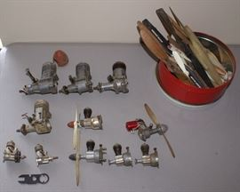 Vintage C.1950's Model Aircraft Engines & Parts Lot