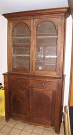 C.1840's Primitive Stepback Cabinet