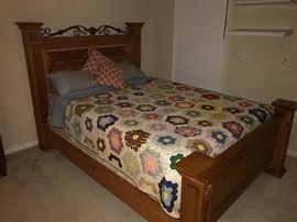 Vintage queen bed