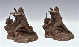 Pair Indian Scout Bookends             Bid on-line today through March 21st at www.fairfieldauction.com