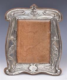 Art Nouveau Sterling Silver Frame             Bid on-line  at www.fairfieldauction.com