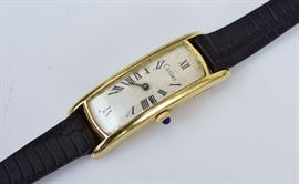 Cartier 18k Gold Curvex Wrist Watch             Bid on-line today through March 21st at www.fairfieldauction.com