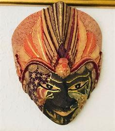 Batik Wood Mask | Indonesia