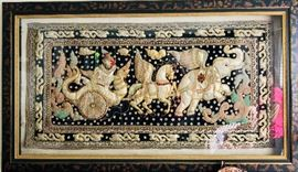 Kalaga Elephant Tapestry | Myanmar, Thailand, Burma Embroidery