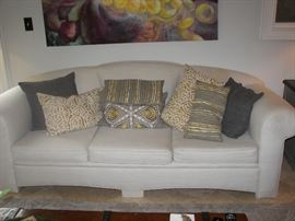 sofa for sale but pillows are not for sale