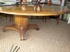 detail of base of dining table