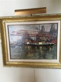 """Ships in Port"" Painting by Konstantine Shurupov"