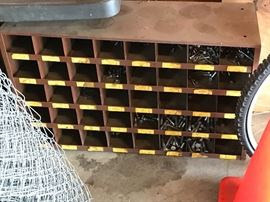 Large metal parts bins- its full.