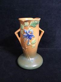 002 Roseville Columbine vase