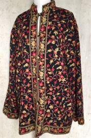 Groovy Nehru embroidered jacket 1960s