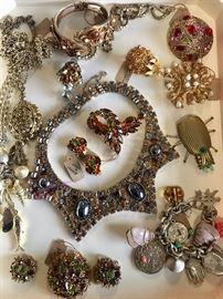 Vintage jewelry including Designer