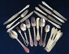 """Continental Pattern"" Sterling Flatware, Designed and Made by Georg Jensen, Denmark and Sterling Flatware by Christian F Heise (1904-1932)"