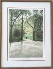 Parc Minceau 1984, 96/285 by Altman, publishes by Mourlot