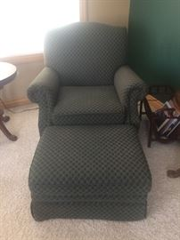 Over stuffed chair and ottoman