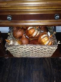 Basket of fall ornaments