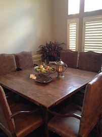 Extra large square table with 8 matching arm chairs