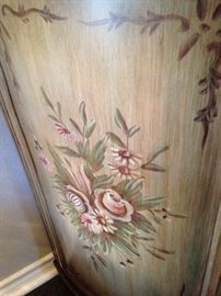 Side panel of the demilune chest