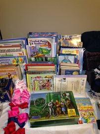 Children's books; little girl's bows