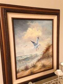 Framed beach art