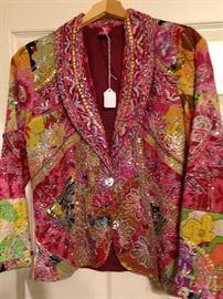 Colorful beaded jacket