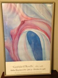 Georgia O'Keefe framed poster