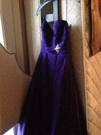 Purple evening wear